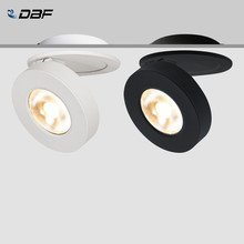 [DBF]90 LED pliable monté en Surface Downlight 360 degrés rotatif 3W 5W 7W 10W plafonnier blanc/noir boîtier AC85-265V