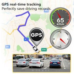 Image 5 - VVCAR V17 12 cal lusterko wsteczne kamera samochodowa Dashcam GPS FHD podwójny 1080P obiektyw wideorejestrator jazdy kamera na deskę rozdzielczą