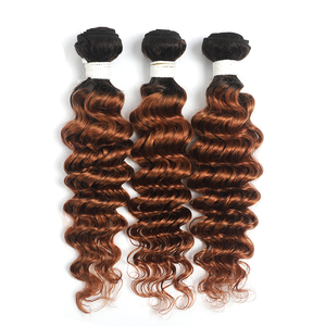 Image 4 - Deep Wave Human Hair Bundles 8 26 Inch 1PC Ombre Blonde Brown Red Hair Weave Bundles SOKU Brazilian Non Remy Hair Extensions