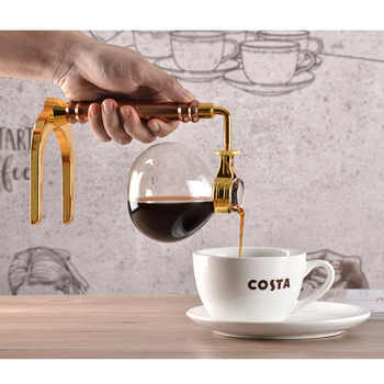 New Home Style Siphon coffee maker Tea Siphon pot vacuum coffeemaker glass type coffee machine filter 3cup