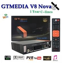 Built-in Wifi H.265 Gtmedia V8 Nova With Europe 7 Lines Cccam Share Server HD Support PVR Ready DVB-S2 Satellite Receiver