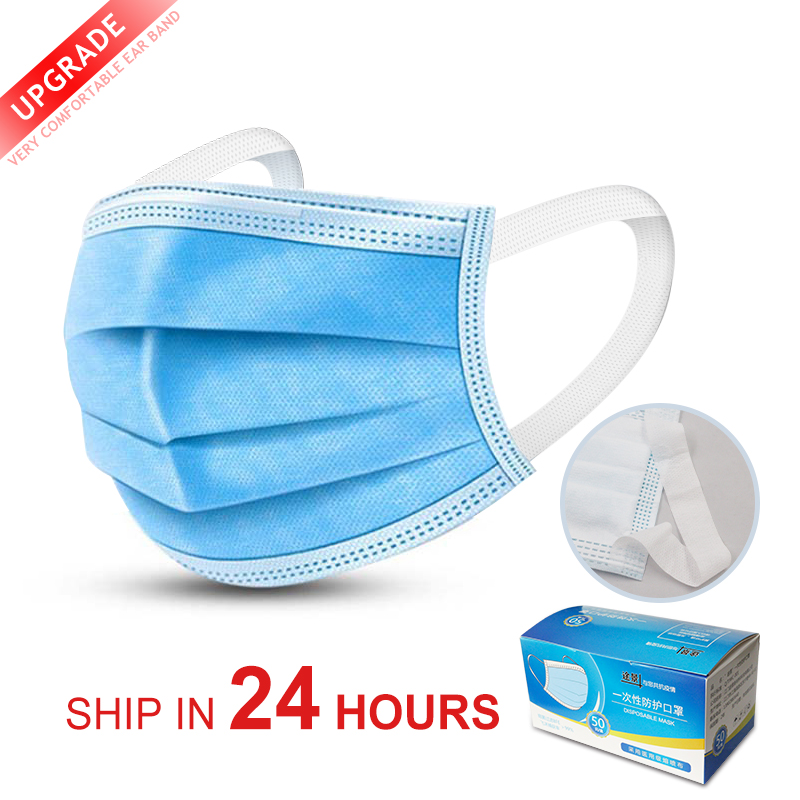 Anti-dust Safe Non Woven Anti-dust Safe Breathable Mouth Mask Disposable Ear Loop Face Surgical Masks