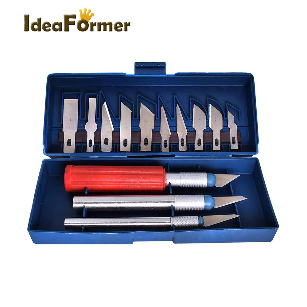 3D Printer Clean-up Accessories Tool Kit 13 Pieces Blades Knife Set 3D Print Removal Tool Kit With Convenient Storage Case