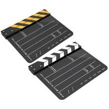 30 × 25センチメートルアクリルカチンコプロの映画フィルムアクション拍手ディレクター写真ツールカチンコ