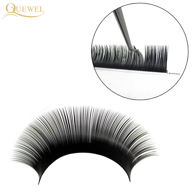 Quewel Eyelash Extension 12 Lines/Tray Silk Cilios Soft Professionals Individual Eye Lash Extensions C/CC/D Curl  False Lashes 5