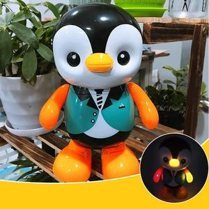 Juguete Musical de plástico con luz LED para niños, Juguete Musical con forma de pingüino, para bailar, regalo para el hogar eléctrico
