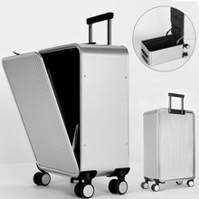 "20""24""inch 100% Aluminum Alloy New Fashion Women& Men Travel bag Mala de viagem TSA Lock Cabin Trolley Suitcase Carry on Luggage(China)"