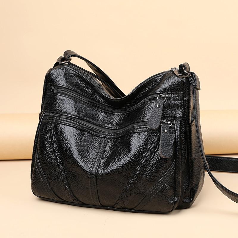 В стиле ретро; Новая обувь из мягкой кожи на плечо сумки через плечо для женщин 2021 высокое качество женская сумка дизайнерские женские повсе...