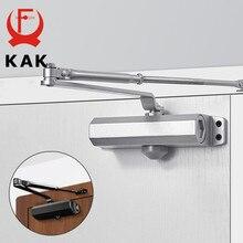 KAK Hydraulische Puffer Automatische Tür Näher 25KG bis 80KG Einstellbare Geschwindigkeit Tür Schließen Ausrüstung Stumm Weiche Schließen Tür hardware