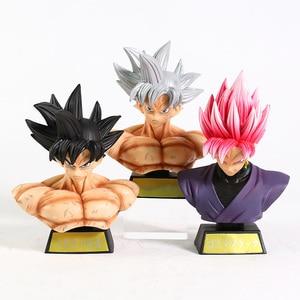 Dragon Ball Z Son Goku Ultra Instinct Rose Gokou Black Bust PVC Figure Collectible Model Toy