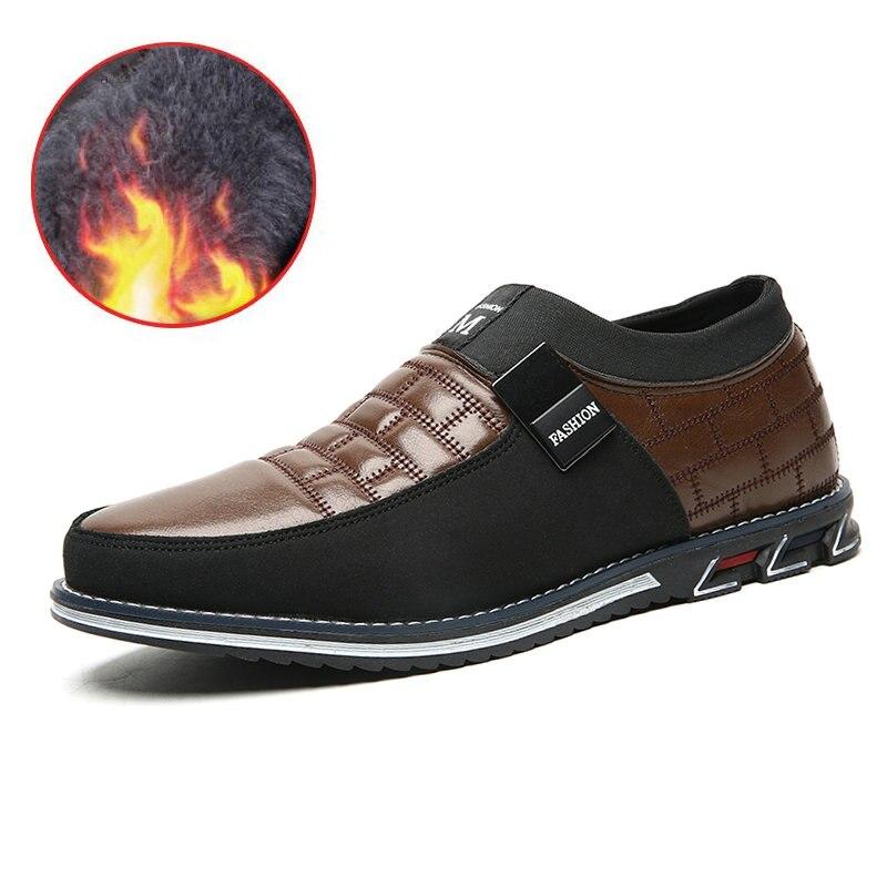 2019 nuevo tamaño grande 38-48 Oxfords cuero hombres zapatos moda Casual Slip On Formal negocios boda Vestido zapatos envío de la gota