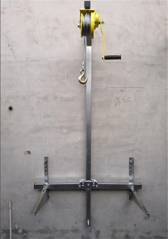 10/15/20M Galvanized Outside Installation Lifting Tool Crane Folding Self-locking Manual Winch Assembly Air Conditioner