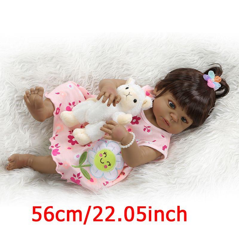 20in réaliste Reborn poupée doux plein Silicone vinyle nouveau-né bébés singe réaliste à la main jouet enfants cadeaux d'anniversaire 95AE