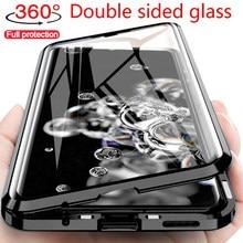 Parágrafo Samsung M51 M31 S20FE A41 A21S A52 A32 A12 S21 A71 A51 M21 A50 A70 Casos De Vidro Duplo 360 Proteçã Completa Caso Magnética