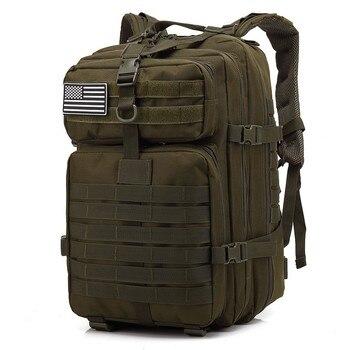 Mochila militar de gran capacidad 45L para hombre, mochila multifunción de nailon resistente al agua, mochila de viaje trasera, mochila militar