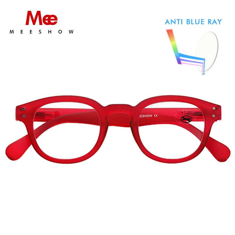 Meeshow nouveau lunettes de lecture hommes lunettes Anti bleu ray lunettes UV400 français écran presbytie + 1.0 + 2.5 1513