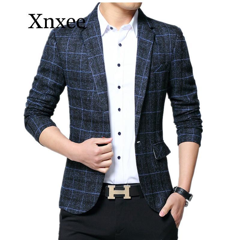 Xnxee мужской свадебный костюм, мужские блейзеры, приталенные костюмы для мужчин, деловой вечерний Блейзер, мужской 5XL