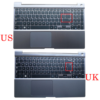 NEW Original Laptop Palmrest Upper Case US UK Backlit Keyboard Touchpad For SAMSUNG NP700Z5 NP700Z5A NP700Z5B NP700Z5C Silver new for samsung np 900x3b 900x3c 900x3d 900x3e laptop keyboard backlit br brazil no frame big enter