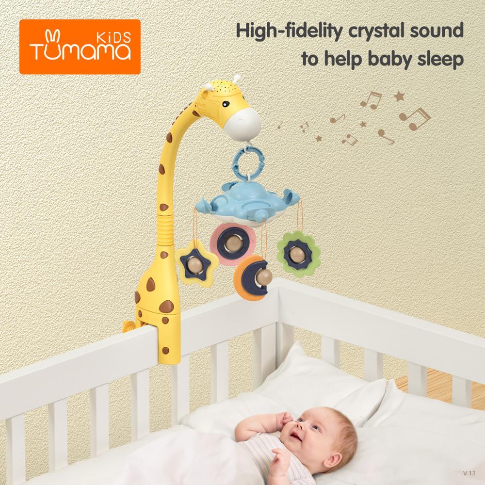 Baby Rattles Crib Mobiles Toy Holder Rotating 360°flexible Rotation Mobile Newborn's