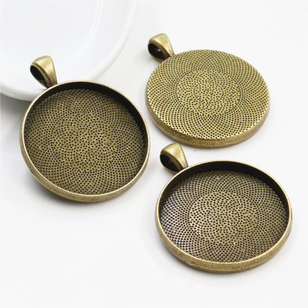 5pcs 30mm Inner Size Antique Bronze Classic Style Cabochon Base Setting Charms Pendant (B7-24)