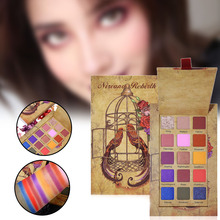 H 15 Colors Eyeshadow Palette Matte Eyeshadow Palette Shining Glitter Eye Shadow Pigment  Waterproof Long-Lasting Makeup
