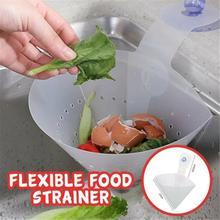 Tapón de pie antibloqueo para cocina, filtro plegable, Simple, para fregadero, reciclable, plegable