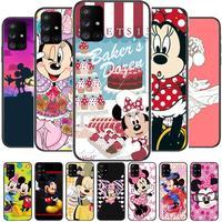 Roze Jurk Minnie Mouse Telefoon Geval Romp Voor Samsung Galaxy A50 A51 A71 A70 A52 A40 A30 A31 A80 A20E 5G S Zwart Shell Art Mobiele C