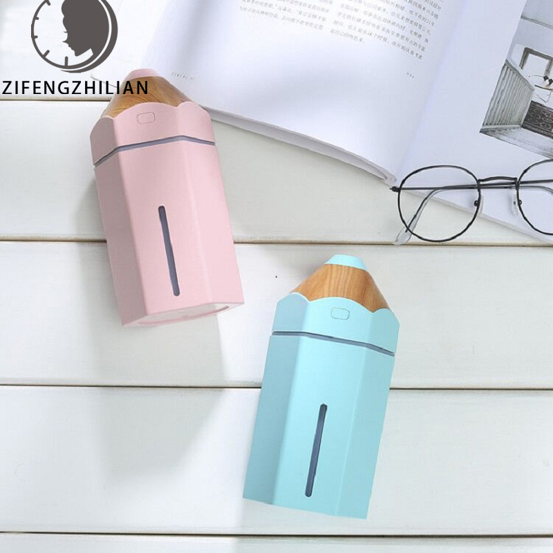 Mini Pencil Humidifier Essential Oil Diffuser 230ml Aroma Lamp LED Magic Light USB Fogger Car Air Freshener For Child