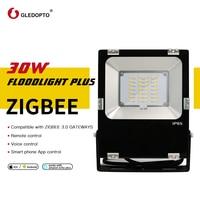 Gledopto 30 w inteligente zigbee led flooglight mais 2500lm rgbcct luz exterior ip65 trabalhos à prova dwith água com amazon eco mais smartthing|Luminárias gramado|   -