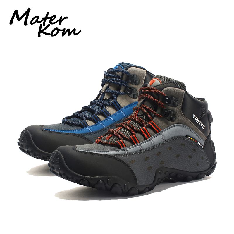 2019 New Outdoor Hiking Shoes Men Leather Trekking Shoes Woodland Hunting Shoes High Cut Mountain Tactical Boots buty trekingowe