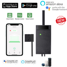 Garage door sensor opener controller remote WiFi switch Tuya Smart Life App work with Google Home Alexa home automation for home
