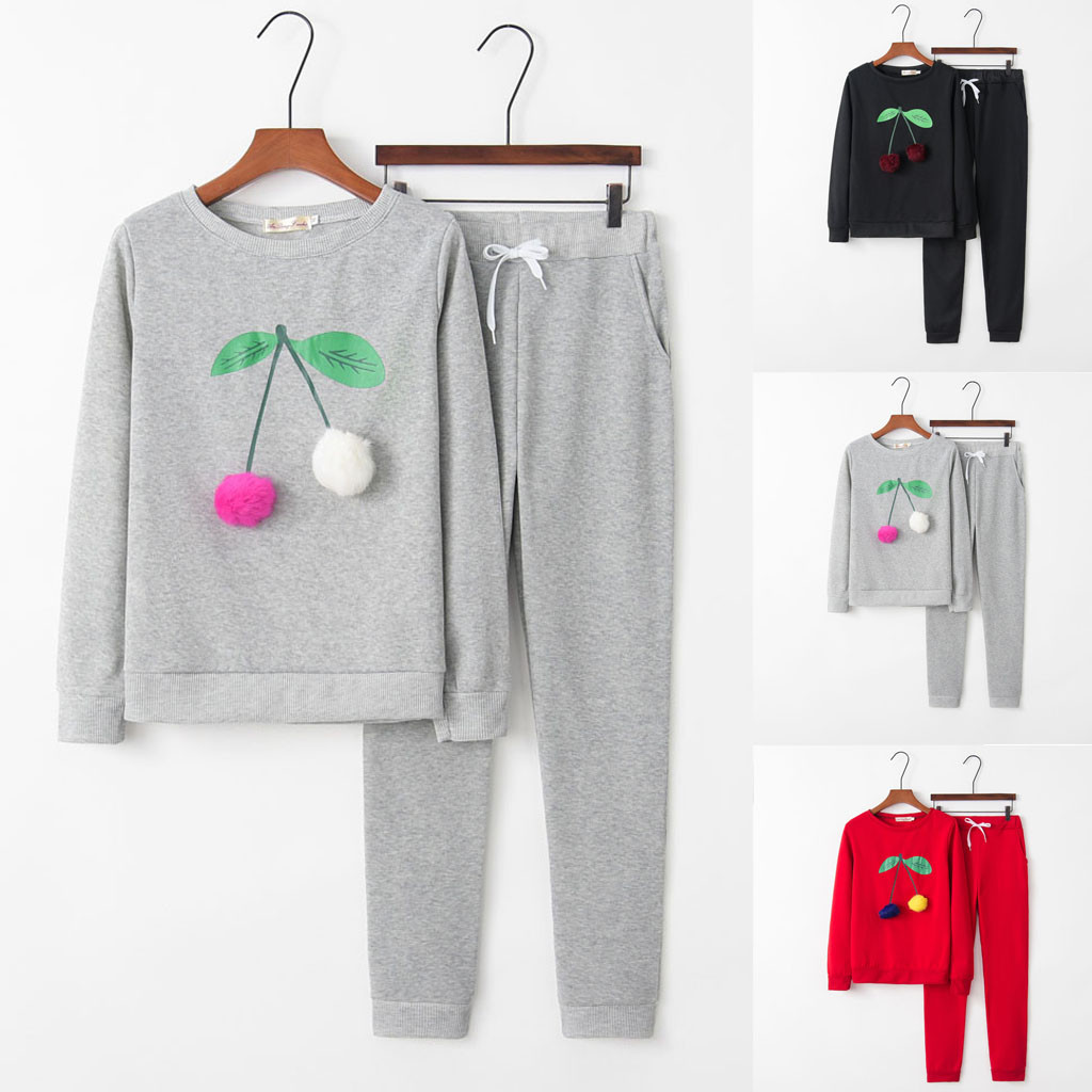 Women's Sets Women Solid Color Hooded Sweatshirt and pant Tracksuit Sport Suit tracksuit for women