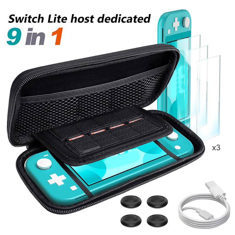 ALLOYSEED Portable Game Console Protective Case Storage Bag for Nintend Switch Lite Accessories Supply