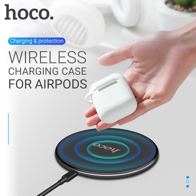 Airpods Charging Case | Hoco Wireless Charging Case For AirPods Shock Scratch Protective Cover Box For Air Pods Earphone With Wireless Charger For QI