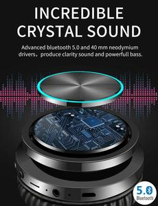 Image 4 - Picun B12 Bluetooth 5.0 Headphones Wireless Headset 36H Foldable LED Light Stereo Gaming Earphone With Mic For iphone Xiaomi PC