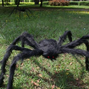 30-200CM Giant Spider HalloweenGiant Black Spider Halloween Prop Decor Plush Scary House Spider Props Simulation Tricky Hau N7W8 halloween scary party scene spider decorative props joking birthday toys diy halloween simulation plush spider decorative