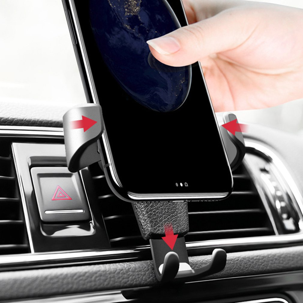 Gravity Car Holder For Phone In Car Air Vent Clip Mount No Magnetic Mobile Phone Holder Cell Stand Support For IPhone X 7 Newest