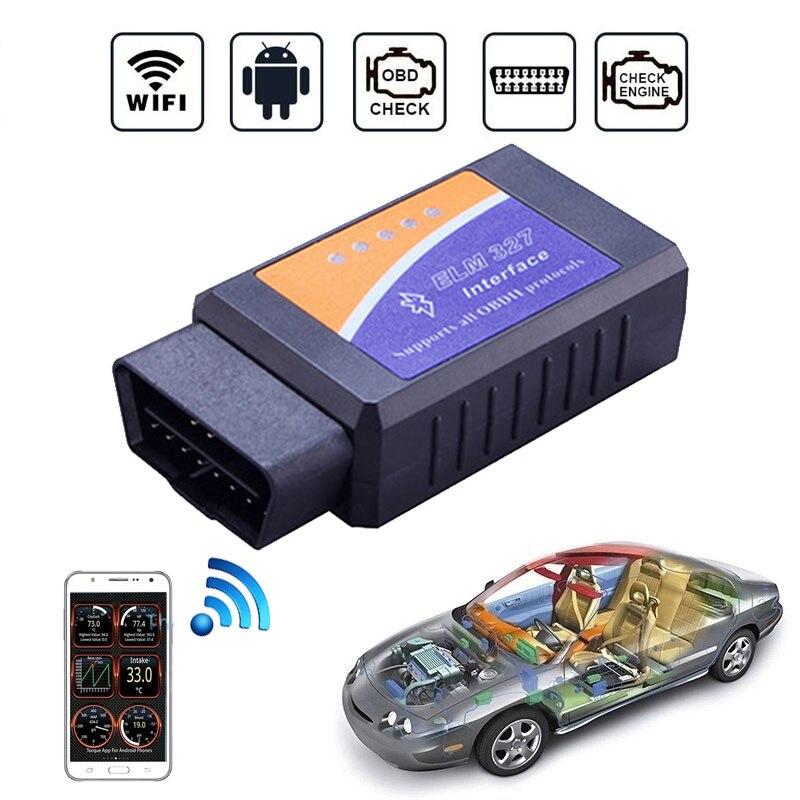 Auto OBD2 Scanner Wifi Bluetooth ELM327 V 1,5 OBD2 Auto Diagnose werkzeuge Mini ELM327 Inter Gesicht Unterstützung Alle OBD2 Protokolle für IOS