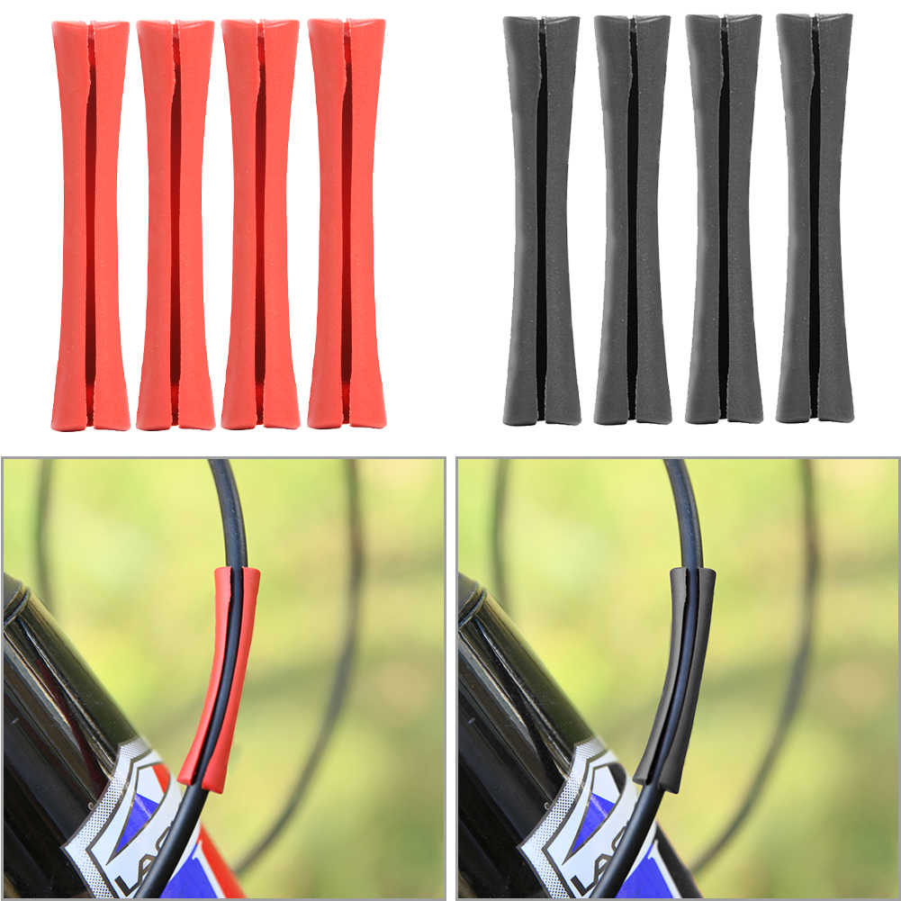 4pcs Bicycle Brake Gear Shift Pipe Protector Sleeve MTB Bike Frame Protective Cable Anti Friction Paint Surface Protection