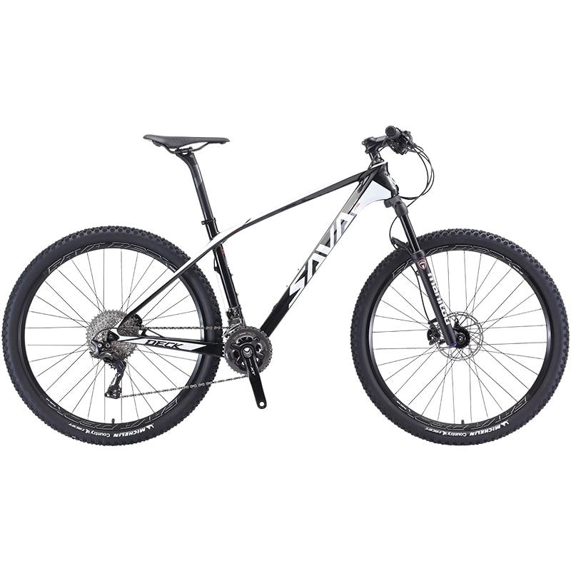 SAVA Mountain Bike 29 Mtb 29 Inch Carbon Mountain Bike Mtb 29 Mountain Bicycle With SHIMANO DEORE XT M8000 Mtb Vtt Homme 27.5/29
