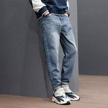 Japanese Style Fashion Men Jeans Vintage Designer Denim Harem Pants Loose Fit Retro Blue Ripped Taper Trousers Hip Hop
