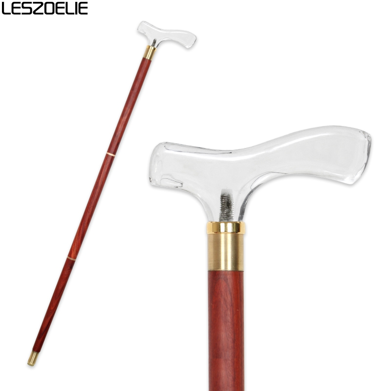 Acrylic Handle Walking Cane Men Decorative Wooden Walking Stick Fashionable Cane Women Luxury Vintage Walking Canes