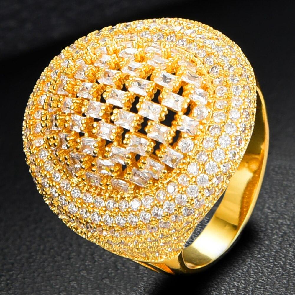 Missvikki 2020 à la mode grand luxe déclaration bracelet anneaux pour les femmes cubique Zircon doigt anneaux perles bague avec breloque bohème bijoux - 5