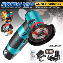 Polishing-Machine Angle-Grinder Power-Tool Mini Cutting Cordless Two-Batteries 500W 12V