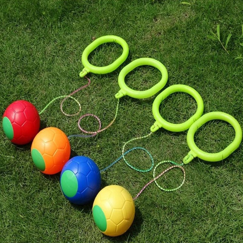 1Pcs Kip Ball Outdoor Fun Sports Toy Classical Skipping Toy Exercise Coordination And  Force Reaction Training Swing Ball