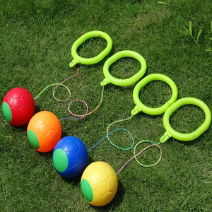 1Pcs Kip Ball Outdoor Fun Sports Toy Classical Skipping Toy Exercise Coordination And Force Reaction Training Swing Ball(China)