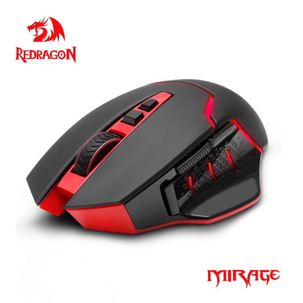 Redragon MIRAGE M690 USB Wireless 2.4G Gaming Mouse 4800DPI 8 buttons Programmable ergonomic for overwatch gamer Mice PC compute