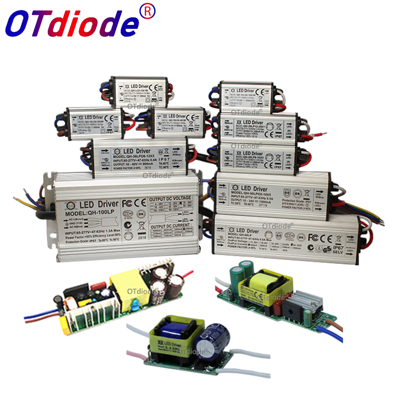No Flicker 1W 3W 5W 10W 20W 30W 36W 50W 100W LED Driver Lighting Transformers Power Supply For 1 3 5 10 20 30 50 100 W Watt Lamp