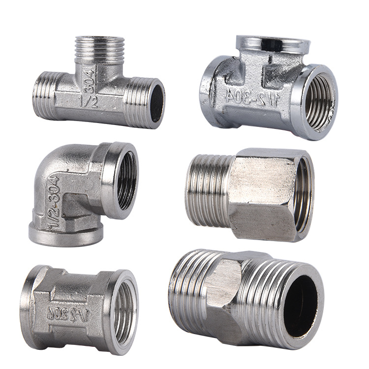 Equal Socket Teeth Outside Straight Connector Tooth Elbow Outer Tooth Internal Thread Tee Joint 4 Points Plumbing Accessories
