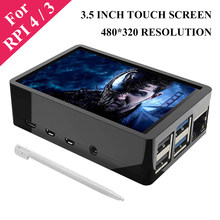 3.5 Inch Raspberry Pi 4 Model B Touch Screen 480*320 TFT LCD Display with Touch Pen ABS Case support Raspberry Pi 4 3 4B 3B 3B+